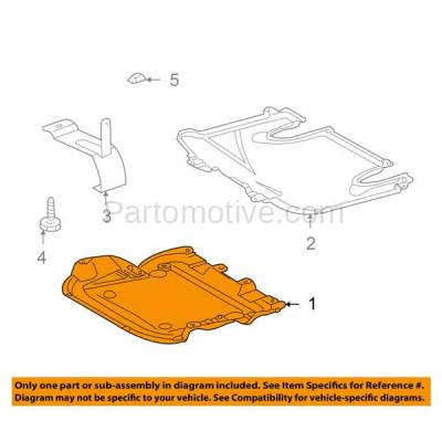 Aftermarket Replacement - ESS-1465 03-07 C-Class Front Engine Splash Shield Under Cover Guard MB1228123 2035243330 - Image 3