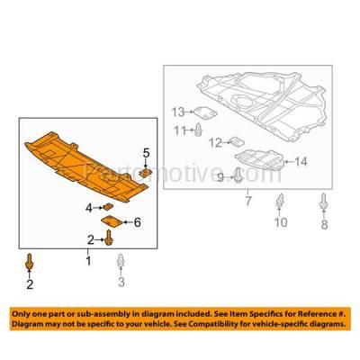 Aftermarket Replacement - ESS-1411 2014-2018 Mazda 3 & 2014-2017 Mazda3 Sport (Hatchback & Sedan) 2.0L/2.5L Front Forward Engine Under Cover Splash Shield Undercar Guard - Image 3