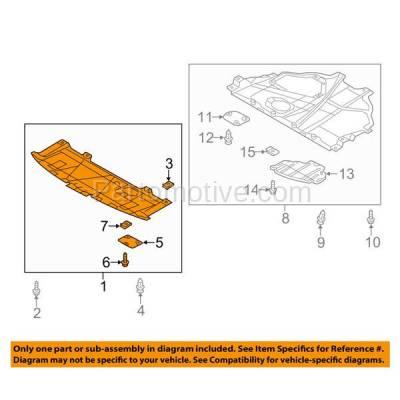 Aftermarket Replacement - ESS-1413 2013-2016 Mazda CX-5 (Sport Utility 4-Door) (2.0 & 2.5 Liter) Front Engine Under Cover Splash Shield Undercar Guard Air Deflector Plastic - Image 3