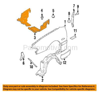 Aftermarket Replacement - ESS-1430R 93-02 626 Engine Splash Shield Under Cover Right Passenger MA1228105 GA2A56330 - Image 3