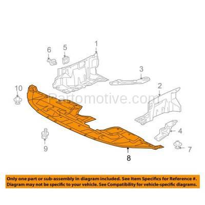 Aftermarket Replacement - ESS-1494 07-13 Outlander Front Engine Splash Shield Under Cover Guard MI1228125 5379A032 - Image 3