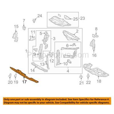 Aftermarket Replacement - ESS-1381 10-15 RX-350/450h Front Engine Splash Shield Under Cover Japan-Built 5144148071 - Image 3