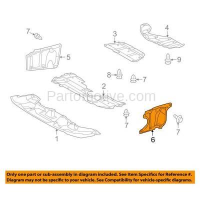 Aftermarket Replacement - ESS-1383L 10 11 12 HS250h Engine Splash Shield Under Cover Undercar Driver Side 5144475010 - Image 3