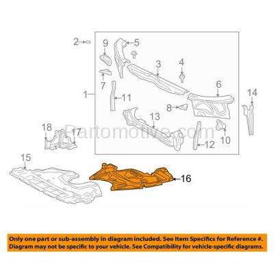 Aftermarket Replacement - ESS-1387 01-05 IS-300 Rear Engine Splash Shield Under Cover Undercar LX1228101 5142053012 - Image 3