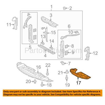 Aftermarket Replacement - ESS-1391 10-15 RX450h, 11-15 Sienna Rear Engine Splash Shield Under Cover Guard LX1228131 - Image 3
