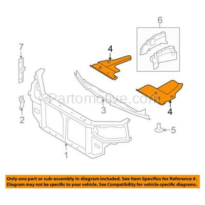 Aftermarket Replacement - ESS-1322R Engine Splash Shield Under Cover Fits 08-11 Azera Right Passenger Side HY1228158 - Image 3