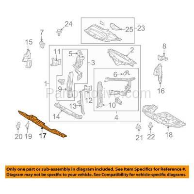 Aftermarket Replacement - ESS-1390 10-15 RX350 Front Engine Splash Shield Under Cover Undercar LX1228130 514410E020 - Image 3
