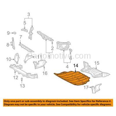 Aftermarket Replacement - ESS-1400 01-03 LS430 Front Engine Splash Shield Under Cover Undercar LX1228118 5144150080 - Image 3