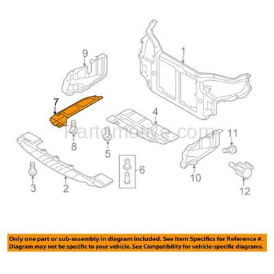 Aftermarket Replacement - ESS-1317R Rear Engine Splash Shield Under Cover For 07-12 Elantra & 10-13 Forte Right Side - Image 3