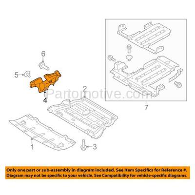 Aftermarket Replacement - ESS-1283R 2009-2014 Hyundai Genesis & 2011-2016 Equus & 2015-2017 Kia K900 V8 Front Engine Under Cover Splash Shield Undercar Guard Right Side - Image 3