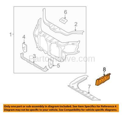 Aftermarket Replacement - ESS-1369R Engine Splash Shield Under Cover Fits 06-11 Rio/Rio5 RH Passenger Side KI1228107 - Image 3