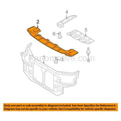 Aftermarket Replacement - ESS-1296 Engine Splash Shield Under Cover Undercar For 07-10 Elantra HY1228116 291102H200 - Image 3