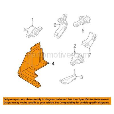 Aftermarket Replacement - ESS-1223R 04-08 Chevy Aveo Engine Splash Shield Under Cover Right Passenger Side 96398984 - Image 3