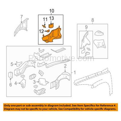Aftermarket Replacement - ESS-1224R 06-11 Chevy HHR Engine Splash Shield Under Cover Right Side GM1251132 22714698 - Image 3