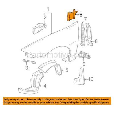 Aftermarket Replacement - ESS-1193L 95-99 Chevy Cavalier MT Engine Splash Shield Under Cover Guard Left Driver Side - Image 3