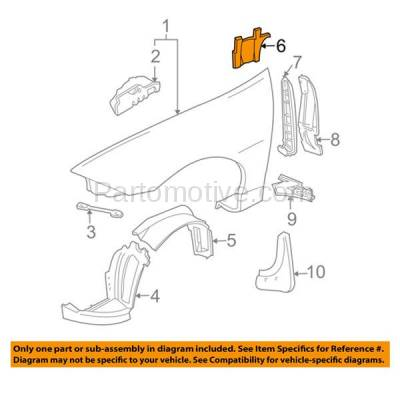 Aftermarket Replacement - ESS-1194L 00-05 Chevy Cavalier Manual-Trans. Engine Splash Shield Under Cover Driver Side - Image 3