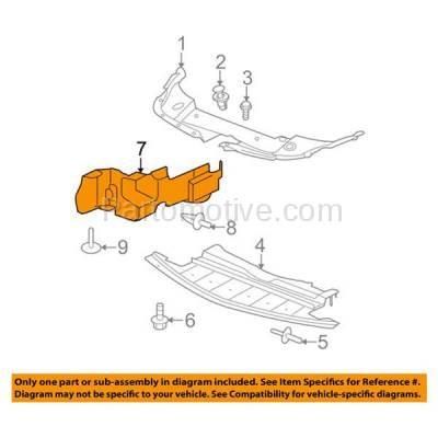 Aftermarket Replacement - ESS-1218L 08-12 Malibu 2.4L Front Engine Splash Shield Under Cover LH Driver Side 15826163 - Image 3