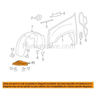 Aftermarket Replacement - ESS-1187L 11-14 Sierra 2500/3500 Engine Splash Shield Under Cover Fender Liner Driver Side - Image 3