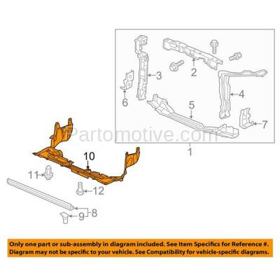 Aftermarket Replacement - ESS-1260 12-15 Civic & 13-15 ILX Engine Splash Shield Under Cover HO1228136 74111TR3A00 - Image 3