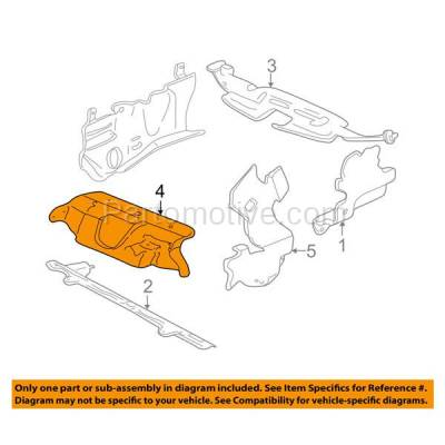 Aftermarket Replacement - ESS-1179 99-05 Grand AM Front Engine Splash Shield Under Cover Air Deflector GM1228100 - Image 3