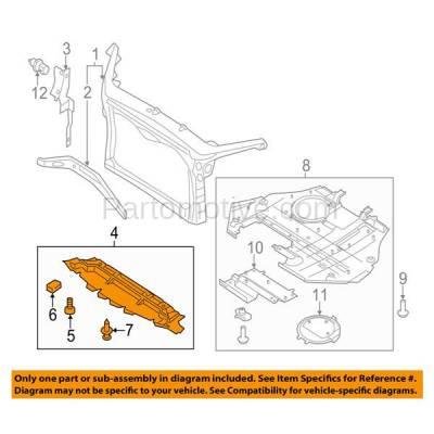 Aftermarket Replacement - ESS-1161 07-12 MKZ 3.5L V6 Front Engine Splash Shield Under Cover/Air Deflector AH6Z8327A - Image 3