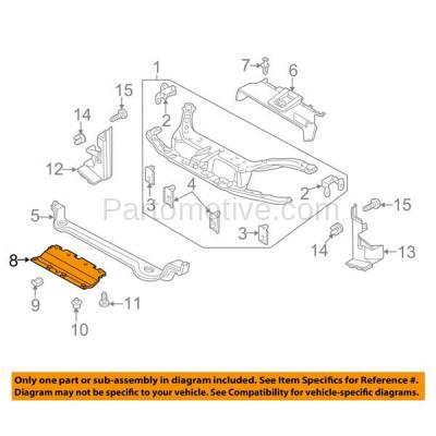 Aftermarket Replacement - ESS-1165 00-04 Focus Front Engine Splash Shield Under Cover Undercar FO1228100 YS4Z8310HB - Image 3