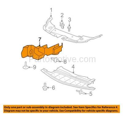 Aftermarket Replacement - ESS-1213R 08-12 Malibu V6 Engine Splash Shield Under Cover Right Passenger Side GM1228123 - Image 3