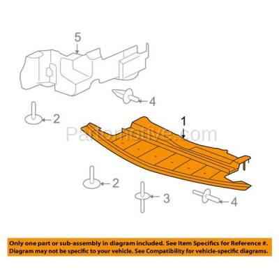 Aftermarket Replacement - ESS-1173 07-09 Aura Center Engine Splash Shield Under Cover Undercar GM1228119 25784696 - Image 3