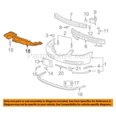 Aftermarket Replacement - ESS-1233 06-11 Lucerne Front Engine Splash Shield Under Cover Undercar GM1228108 15808717 - Image 3