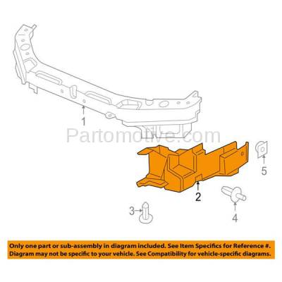 Aftermarket Replacement - ESS-1176R 06-10 G6 2.4L Front Engine Splash Shield Under Cover Guard Right Side 15864188 - Image 3