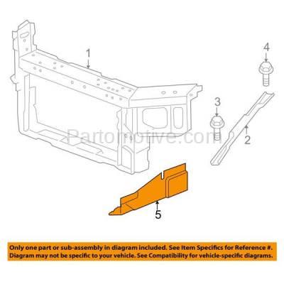 Aftermarket Replacement - ESS-1232R 00-11 Chevy Impala Engine Splash Shield Under Cover RH Passenger Side 10349808 - Image 3