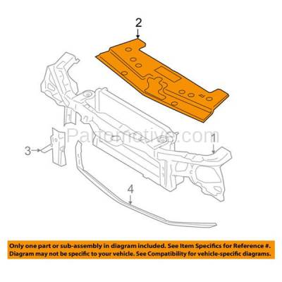 Aftermarket Replacement - ESS-1163 05-09 Mustang Front Upper Grille Mounting Panel Shield FO1223107 5R3Z8C291AAA - Image 3