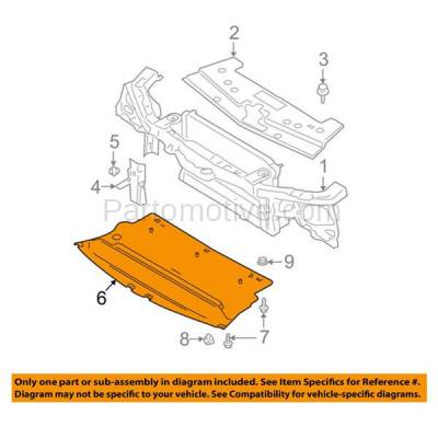 Aftermarket Replacement - ESS-1164 05-09 Mustang Engine Splash Shield Under Cover Undercar FO1228101 5R3Z17626BA - Image 3