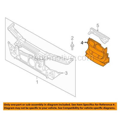 Aftermarket Replacement - ESS-1078 NEW 00-06 3-Series Coupe/Wagon Front Engine Splash Shield Under Cover BM1228112 - Image 3