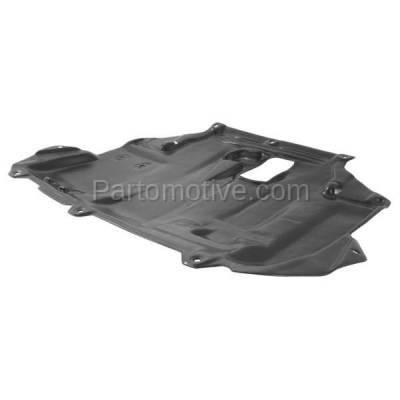 Aftermarket Replacement - ESS-1126 2014-2016 Ford Transit Connect (XL, XLT, Titanium) Van 4-Door (1.6L) Rear Center Engine Under Cover Splash Shield Undercar Guard Plastic - Image 2