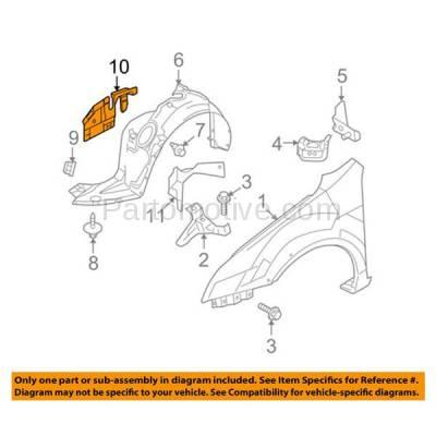 Aftermarket Replacement - ESS-1142L 06-12 Fusion Front Engine Splash Shield Under Cover Left Driver Side 9E5Z16103A - Image 3