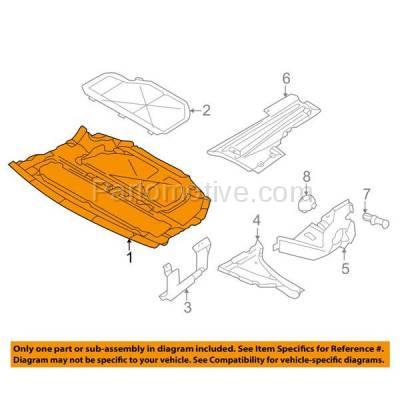Aftermarket Replacement - ESS-1072 NEW 95-01 7-Series Center Engine Splash Shield Under Cover BM1228109 51718150223 - Image 3