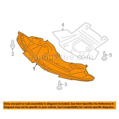Aftermarket Replacement - ESS-1093 11-14 Charger Engine Splash Shield Under Cover Front w/o Police Pkge CH1228107 - Image 3