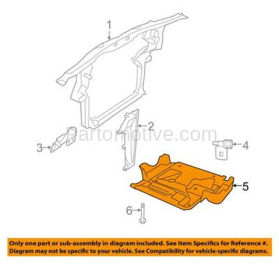 Aftermarket Replacement - ESS-1096 07-11 Nitro 08-12 Liberty Engine Splash Shield Under Cover w/o Insulation Foam - Image 3