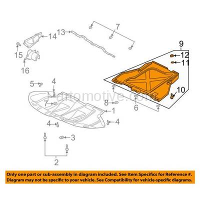 Aftermarket Replacement - ESS-1028 2001-01 Allroad Rear Engine Splash Shield Under Cover w/ Auto Trans. 4Z7863822B - Image 3