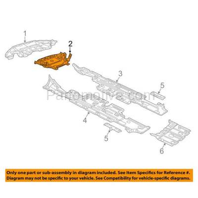 Aftermarket Replacement - ESS-1101 11-14 300 AWD Front Engine Splash Shield Under Cover w/o Insulation 68083327AC - Image 3