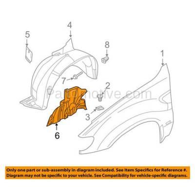 Aftermarket Replacement - ESS-1042R 00-06 X5 Engine Splash Shield Undercar Wheelhouse Cover Passenger Side BM1251126 - Image 3