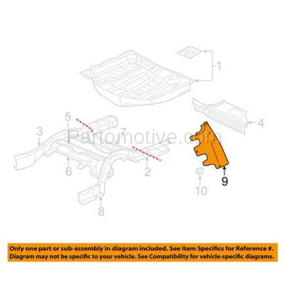 Aftermarket Replacement - ESS-1106 05-10 300/06-14 Charger Engine Splash Shield Under Cover Side Undercar CH1228106 - Image 3