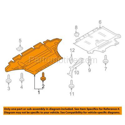 Aftermarket Replacement - ESS-1017 09-16 A4 Engine Splash Shield Under Cover Front 2.0L Auto Transmission AU1228119 - Image 3