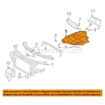 Aftermarket Replacement - ESS-1022 05-06 TT 1.8L Engine Splash Shield Under Car Sound Dampening Cover 8N0825235K - Image 3