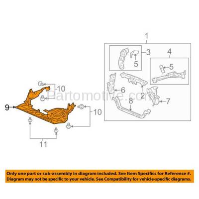 Aftermarket Replacement - ESS-1004 09-10 RL Engine Splash Shield Under Cover Undercar Plastic AC1228109 74111SJAA30 - Image 3