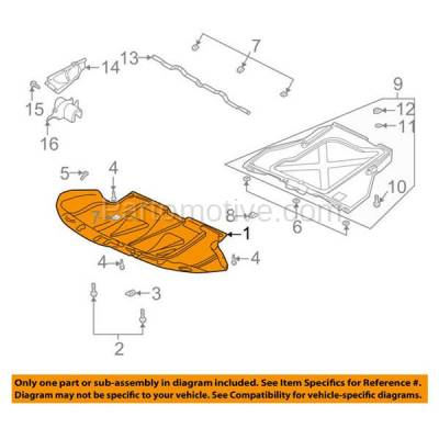 Aftermarket Replacement - ESS-1024 01-05 Allroad Quattro 6-Cyl Engine Splash Shield Under Cover AU1228112 4Z7863821 - Image 3
