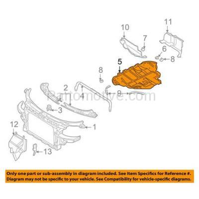 Aftermarket Replacement - ESS-1021 NEW 00-06 TT Engine Splash Shield Under Cover Undercar Sound Dampening AU1228114 - Image 3