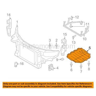 Aftermarket Replacement - ESS-1020 08-15 TT Quattro Engine Splash Shield Under Cover Undercar AU1228116 8J8825237A - Image 3