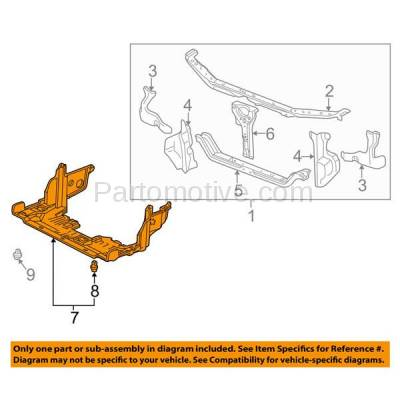 Aftermarket Replacement - ESS-1008 98-02 Accord & 99-03 TL 99-03 Engine Splash Shield Under Cover Front AC1228105 - Image 3